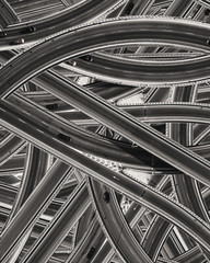 The pattern of the many roads with cars