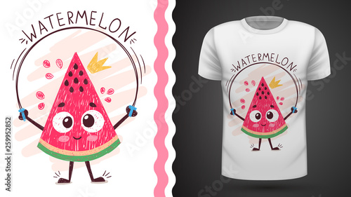 Sweet watermelon - idea for print t-shirt © HandDraw