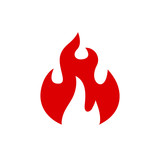 Fire icon. Flame sign icon - for stock