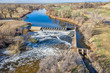 water diversion dam aerial view