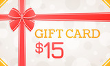 Gift Card, gift voucher - 15 dollars
