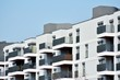 Modern european complex of apartment buildings. Fragment of a modern residential apartment building - 260004267