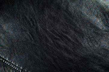 Background black leather,abstraction, texture close-up.