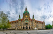 Leinwanddruck Bild - New town hall in Hannover, Germany