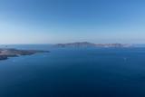 view of Santorini caldera in Greece from the coast
