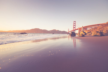 Golden Gate Bridge and Ocean