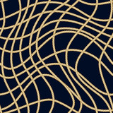 Marine rope seamless pattern. Nautical print. Vector illustration - 260031480