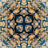 Abstract geometric symmetrical fractal background pattern design