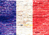 Fototapeta Paris - Flaga Francjii - graffii © Katarzyna