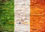 Flaga Irlandii - graffiti