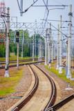 Russian railway in summer. Journey to the railway.
