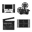 set of film icons
