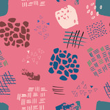 abstract watercolour seamless pattern print background