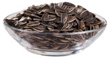 Glass bowl with sunflower seeds