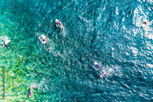 Summer aerial photo of beach and ocean. Free space for your decoration. Gran Canaria island.  © magdal3na
