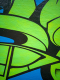Fototapeta Teenage - abstract urban graffiti street wall  © Anthony P.