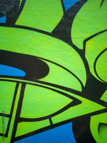 abstract urban graffiti street wall  - 260104220