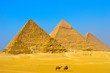 The Great pyramid of Giza in Egypt Cairo with Sphinx and camel
