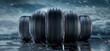 Leinwandbild Motiv 5 Reifen in Formation vor Regenwetter