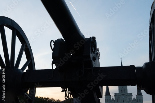 Cannon at Jackson Square in New Orleans, LA © Rebecca