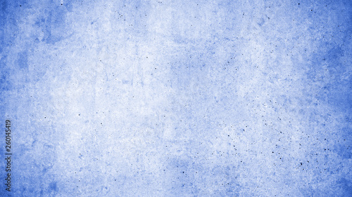 canvas print picture Blue wall with concrete texture as a background