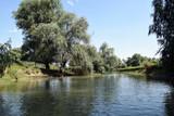 Landscape of Danube Delta. Danube distributary channel. Romania.