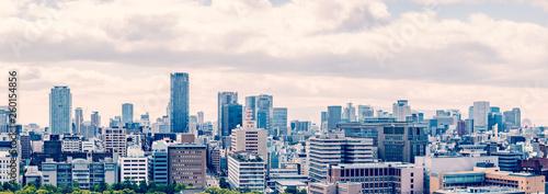 fototapeta na ścianę Panorama view of Osaka cityscape , Osaka, Japan