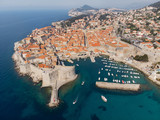 Aerial viel of the old town of Dubrovnik, Croatia