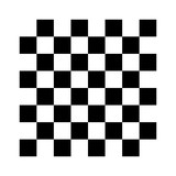 8x8 checker or chess board / chessboard black and white vector