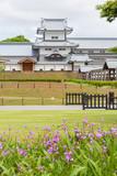 Kanazawa Castle Park in historical city Kanazawa, Japan.