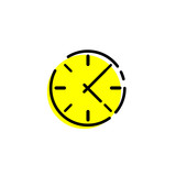 Vector Clock icon. Clock icon in trendy flat style. Clock icon. Simple vector sign