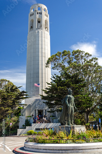 canvas print picture Coit Tower in San Francisco