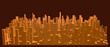 Abstract model of city. Vector illustration. - 260231810