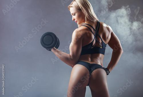 Leinwandbild Motiv Athletic woman
