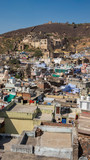 view of bundi the blue city in india