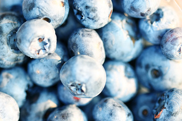 fresh berries blueberries close-up scattered
