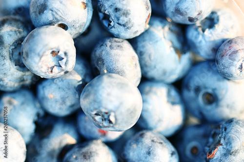 fresh berries blueberries close-up scattered © kichigin19