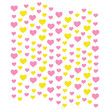 heart shapes in different sizes and colors for Valentines Day background.