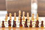 Chess board game, strategy and competition concept.