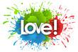 love word in splash's background