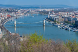 Beautiful bridges of Budapest from Buda Hill - 260312642