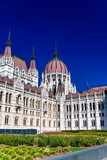 Exterior view of Budapest Parliament on a sunny day - 260312665