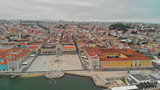 Lisbon, Portugal. Aerial view of Commerce Square and city skyline - 260314077