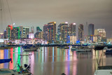 Downtown San Diego at sunset, California. View from the city port - 260314082