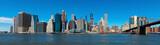 Panoramic New York City and Manhattan skyline with the Brooklyn Bridge