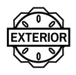 EXTERIOR stamp on white