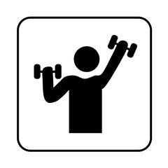 Gymnastics symbol icon © Ricochet64