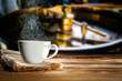 Quadro Fresh hot coffee