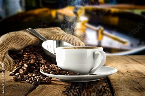 Fresh hot coffee  - 260348600