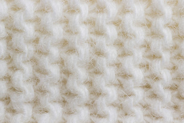 Background knit white thread knit with patterns